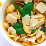 15 Minuten Pasta mit Salbei und Parmaschinken-1