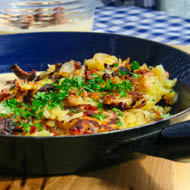 Kartoffelgröstl mit Pfifferlinge