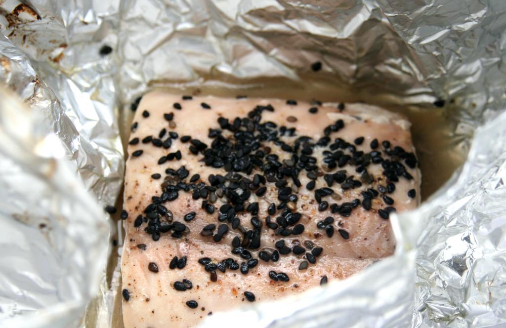 Lachs im Ofen gegart