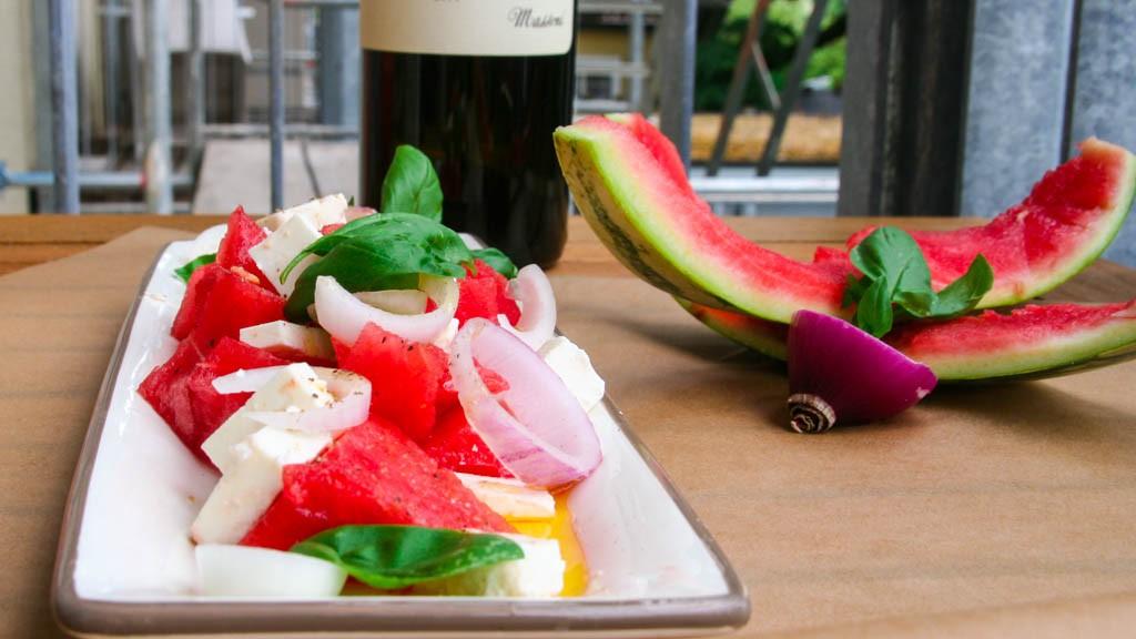 Wassermelone-Feta-Salat