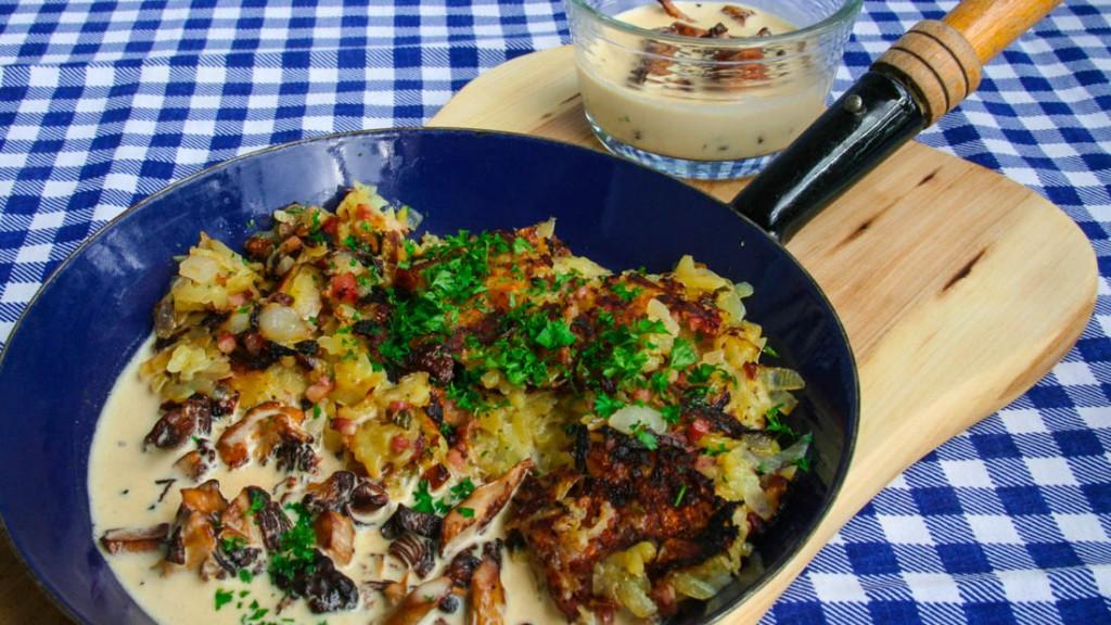 Wiesn-Spezial: Kartoffelgröstl mit Pfifferling-Rahmsosse