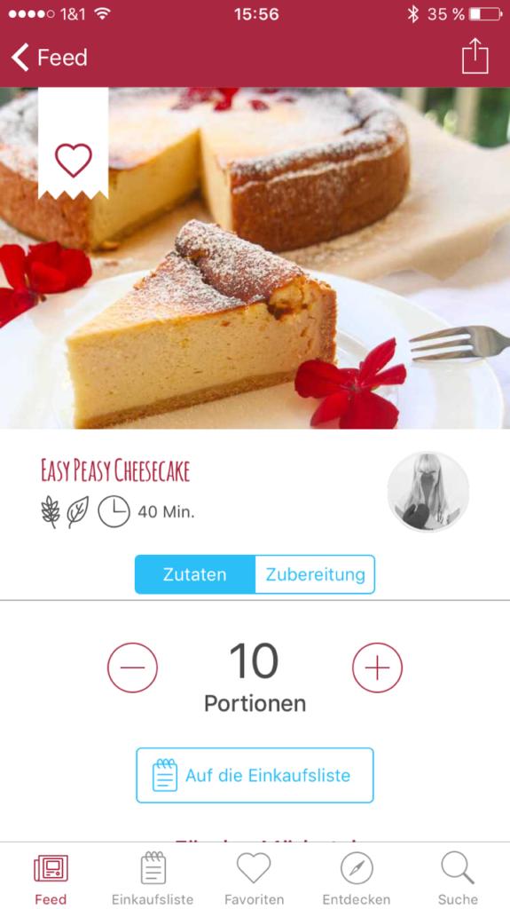 Kochgehilfin in der Mealy App 4