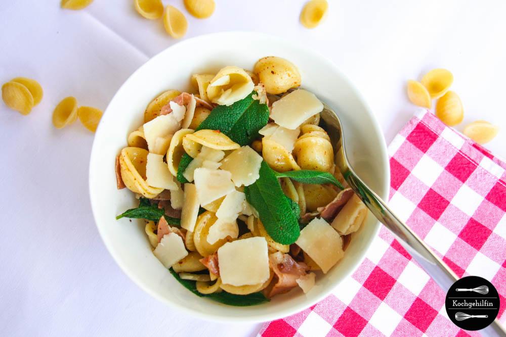 Pasta mit Salbei und Parmaschinken-4