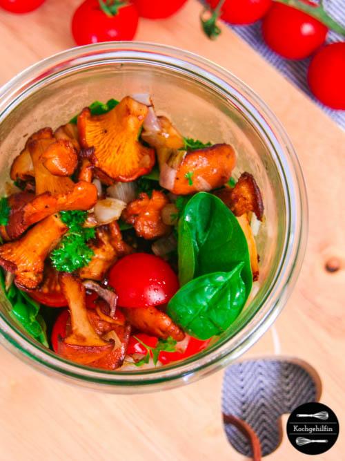 Spinatsalat mit Pfifferlingen-5