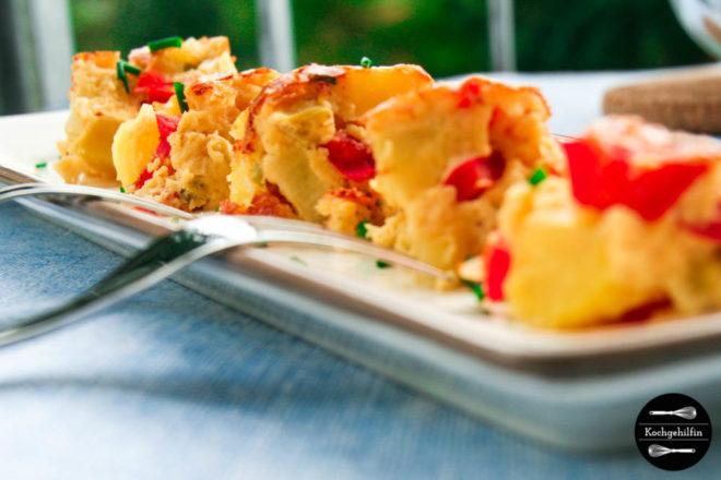 Tortilla mit Paprikagemüse