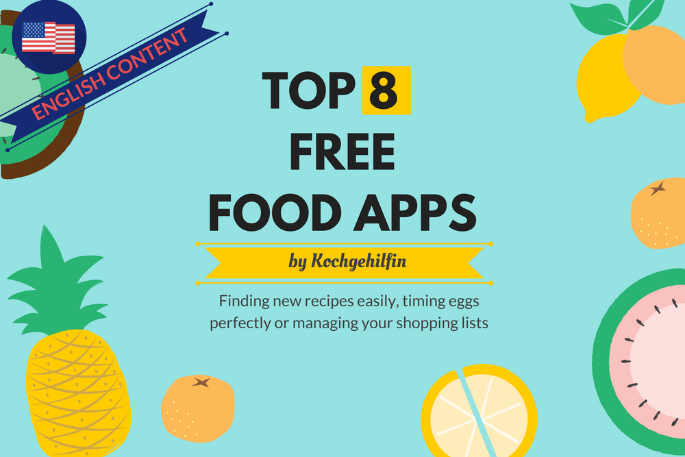 Top 8 free food apps